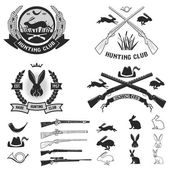 Set of hare hunting club labels