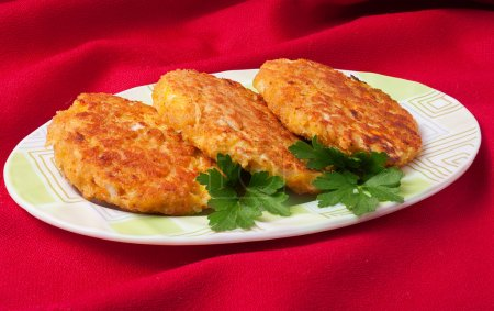 vegetable cutlets with cabbage