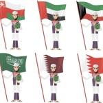 Постер, плакат: Arab with flag and quran