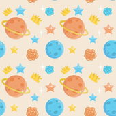 Cute little prince seamless pattern
