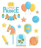 Cute little prince icons