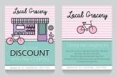 Grocery themed gift voucher template