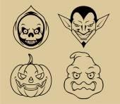 Vector line art of Halloween character