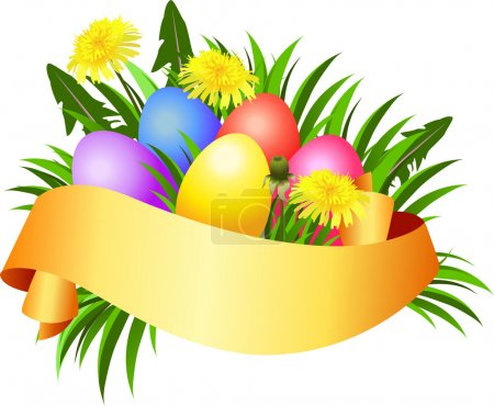 Happy Easter day banner.