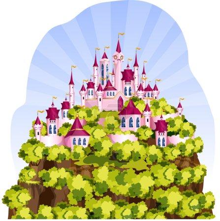 Magic Kingdom on a mountain.