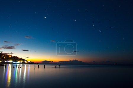 coastal night lights