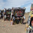 Постер, плакат: Cadillac Ranch installation in Amarillo Texas