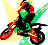 Man on a sport bike