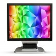 Постер, плакат: Television monitor rainbows texture sky isolated on white backgr