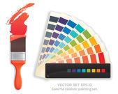 paint brush and colour wheel
