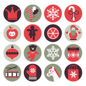 Icon set with silhouette of Christmas gifts