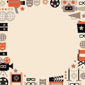 Decorative cinema template