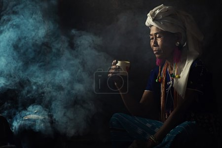 Tribal women Drinking coffee