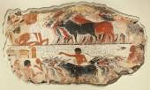 """Постер, картина, фотообои """"Древние фрески на камне 2"""""""