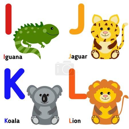 Cute zoo alphabet in vector