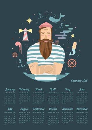 blue anchor on the calendar in 2016