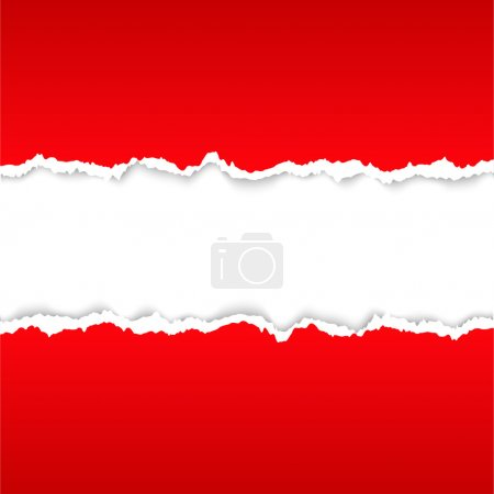 Illustration for Background with red torn paper texture. Vector EPS 10 - Royalty Free Image