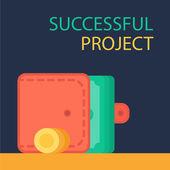 Úspěšný projekt nápis