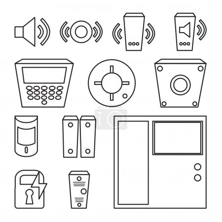 Vector simple set of detectors icons