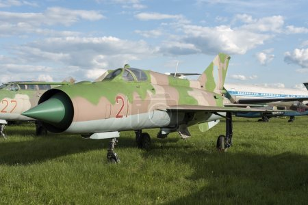 Exhibition of old model airplanes