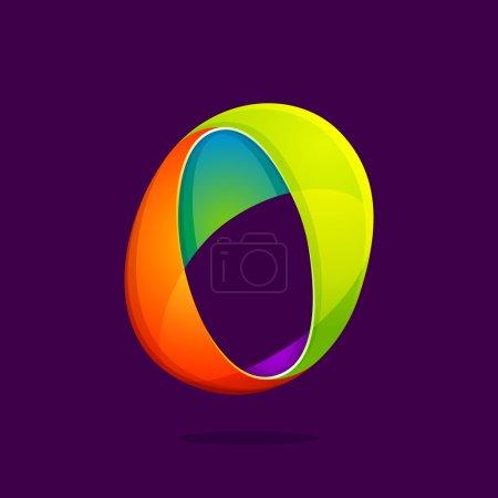 O letter colorful logo.