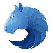 Koňské hlavy objem vektorové sport logo