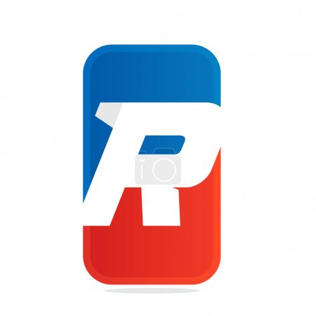 R letter for fitness, sport team or gym.