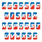 Alphabet letters for fitness sport team or gym