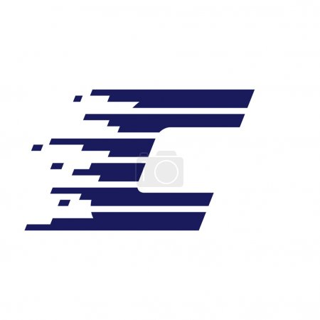 C letter logo with fast speed lines.
