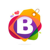 B letter logo with Sale tag