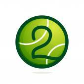 Number two logo with tennis ball