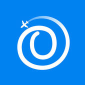 Number zero logo with airline and plane