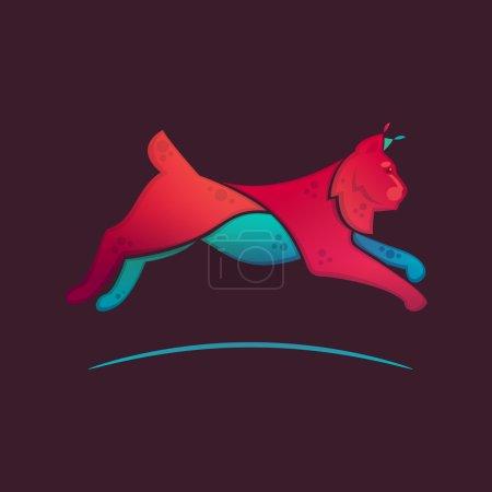 Illustration pour Lynx jump volume logo vecteur pour une équipe sportive - image libre de droit