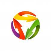 Recycle symbol of arrows refresh