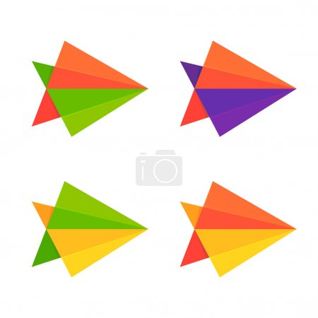 Abstract arrows logo set