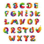 Fun english alphabet letters set Font style vector design template elements