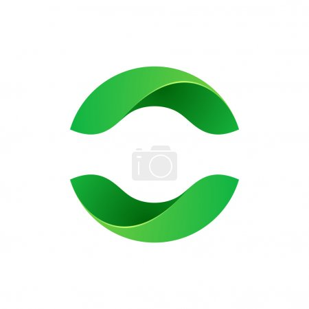 Illustration for Abstract sphere eco green logo,vector illustration - Royalty Free Image