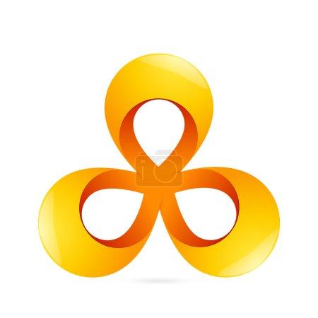 triangle ribbon logo