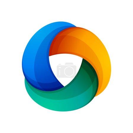 3 volume looped infinity logotype.