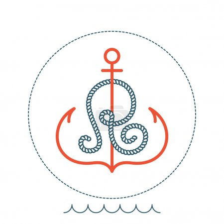 R    letter with an anchor