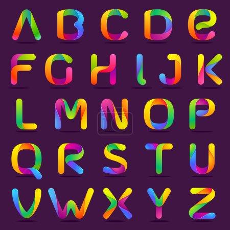 Fun English alphabet letters set.