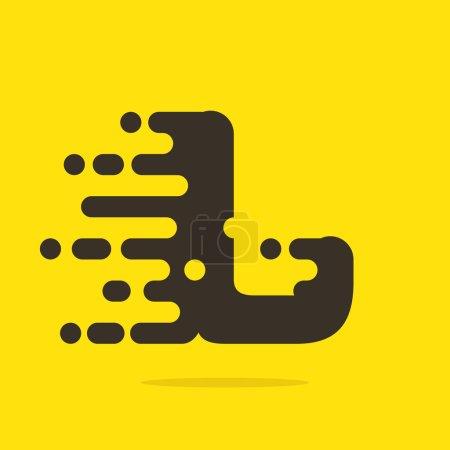 L Modèle de conception de logo de lettre .