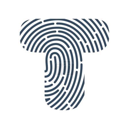 T letter line logo.