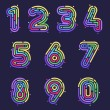 Numbers design templates elements for application ...