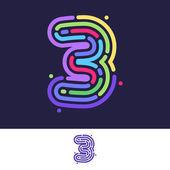number 3 design template