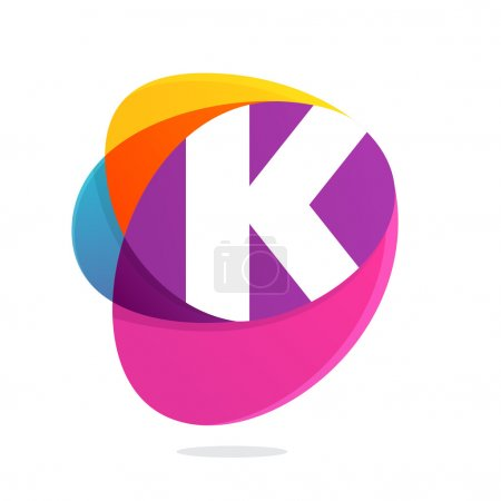 K letter with ellipses intersection