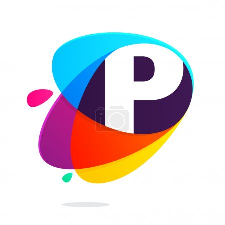 P letter with ellipses intersection