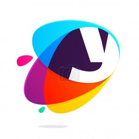Y letter with ellipses intersection