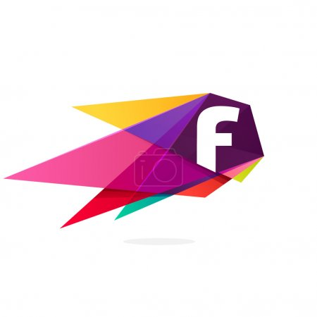 F letter template element
