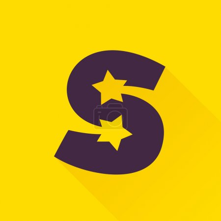 S letter with star.